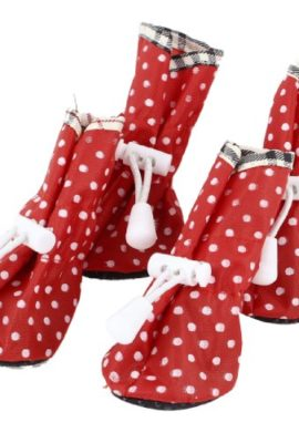 2-Pair-Polka-Dot-Pattern-Cat-Doggie-Drawstring-Boots-Shoes-Red-XS-Size-2-0