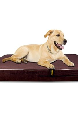 4-Orthopedic-Memory-Foam-Dog-Bed-Large-with-Removable-Cover-and-Included-Removable-Waterproof-Inner-Protector-Dark-Chocolate-Color-0