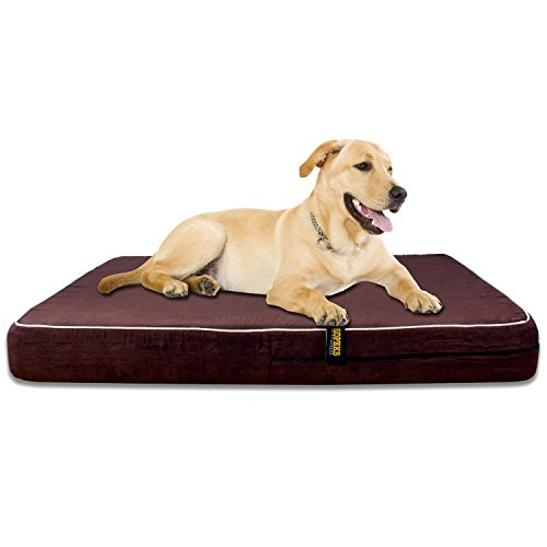 Large Waterproof Memory Foam Dog Bed