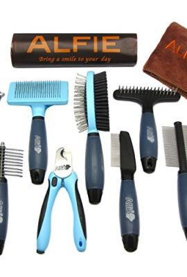 Alfie-Pet-by-Petoga-Couture-Devin-8-piece-Home-Grooming-Set-Flea-Comb-Double-Comb-Demat-Comb-Mat-Breaker-Slicker-Brush-Double-Brush-Undercoat-Rake-Nail-Clipper-General-Purpose-Ultimate-0