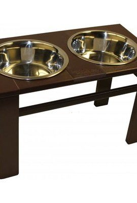 Amish-Handcrafted-12-Tall-Elevated-Pet-Feeder-Mahogany-0