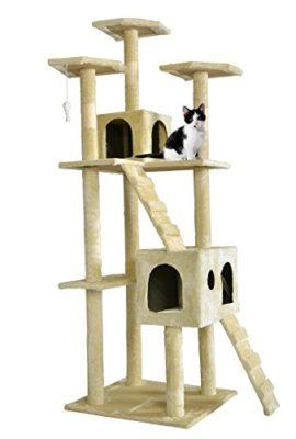 BestPet-CT-9073-Cat-Tree-Scratcher-Play-House-Condo-Furniture-Toy-73-Inch-Beige-0
