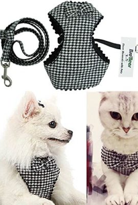 BroBear-Adjustable-Houndstooth-Pet-Harness-and-Leash-Set-0