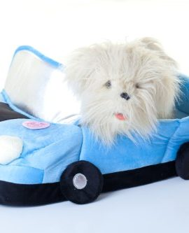 Convertible-Dream-Car-Bed-for-Quiet-Time-for-Pet-Blue-Dog-Cat-0