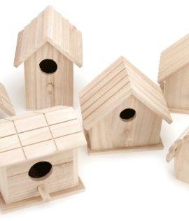 Darice-Wooden-Birdhouse-1-of-6-Assorted-Styles-0