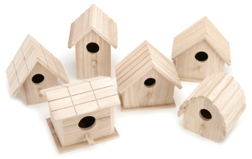 Darice-Wooden-Birdhouse-1-of-6-Assorted-Styles-0