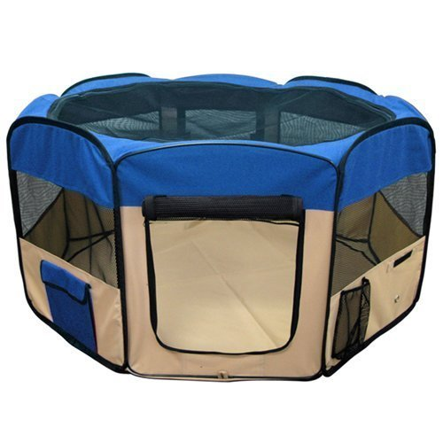 ESK-COLLECTION-Blue-45-Pet-Puppy-Dog-Playpen-Exercise-Pen-Kennel-600d-Oxford-Cloth-0