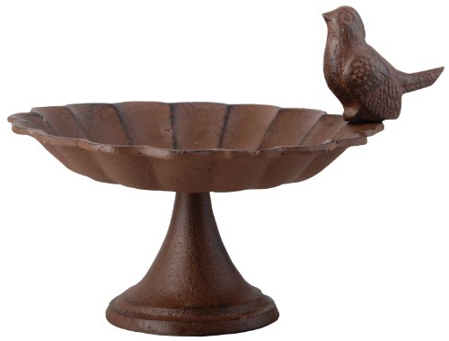 Esschert-Design-FB164-Cast-Iron-Pedestal-Birdbath-Small-0