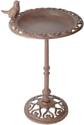 Esschert-Design-USA-FB165-Cast-Iron-Standing-Bird-Bath-0