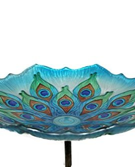 Evergreen-Enterprises-EG2GB209-Peacock-Birdbath-on-Stake-0