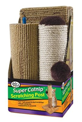 Four-Paws-Super-Catnip-21-Carpet-and-Sisal-Scratching-Post-Cat-House-0