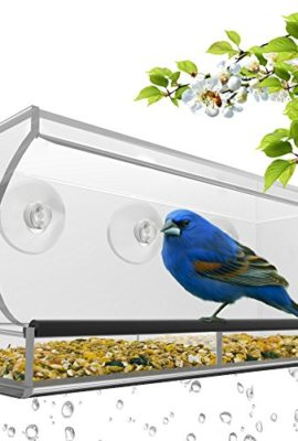 Large-Window-Bird-Feeder-Clear-Removable-Tray-Drain-Holes-Beautiful-Packaging-Enjoy-Wild-Birds-Up-Close-From-Inside-Your-House-Best-Gift-For-Bird-Lovers-Kids-Pets-3-Heavy-Duty-Suction-Cups-0