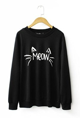 MIXMAX-Girls-Teens-Women-Cute-3D-Emoji-Monkey-Pattern-Sweatshirt-Pullover-0