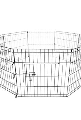 MountainNet-Portable-30-Inch-8-Panels-Animal-Pen-Dog-Cat-Crate-Kennel-Playpen-Fence-Folding-Exercise-Cage-Play-Pen-Indoor-Outdoor-Metal-Wire-Yard-Fence-0