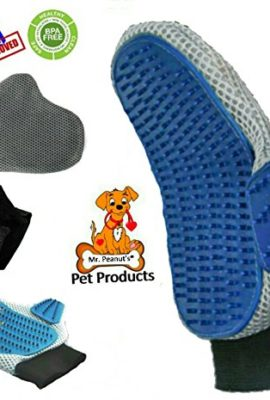 Mr-Peanuts-Pet-Grooming-Glove-Brush-Furniture-Hair-Fur-Remover-For-Long-and-Short-Hair-Grooming-of-Dogs-Horses-Cats-Bunnies-Pet-Massage-Bathing-Brush-Comb-Free-Grooming-Tips-Guide-0