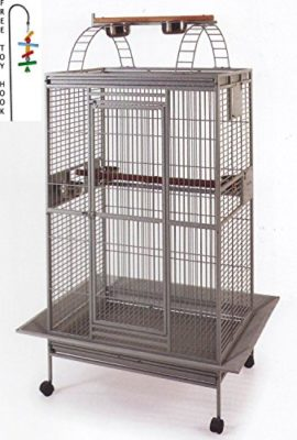 New-Large-Double-Ladders-Open-Play-Top-Wrought-Iron-Bird-Parrot-Parttot-Finch-Macaw-Cockatoo-Cage-Include-Seed-Guard-and-Toy-Hook-0