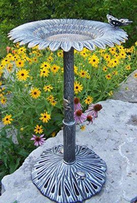 Oakland-Living-Sunflower-Butterfly-Bird-Bath-0