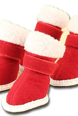 PAWZ-Road-Happy-Christmas-Gift-Pet-Present-Dog-Cats-Santas-Shoes-Boots-Red-5-Sizes-0