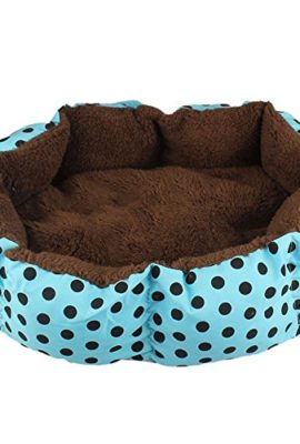 Pecute-Warm-Cozy-Small-Soft-Plush-Pet-Dog-Puppy-Small-Cat-Kitten-Polka-Dot-Bed-House-Cushion-Random-Color-0