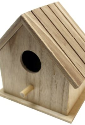 Plaid-96274-Flat-Roof-Birdhouse-Square-Wood-Surface-for-Crafting-0
