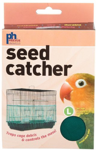 Prevue-Pet-Products-BPV822-Seed-Guard-Nylon-Mesh-Bird-Seed-Catcher-13-Inch-Assorted-Colors-0