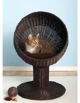 Refined-Feline-Kitty-Ball-Bed-Espresso-0