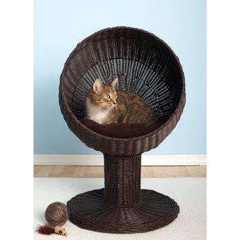 Refined-Feline-Kitty-Ball-Bed-Espresso-0