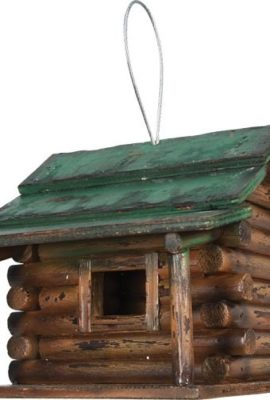Rivers-Edge-Products-Log-Cabin-Birdhouse-0