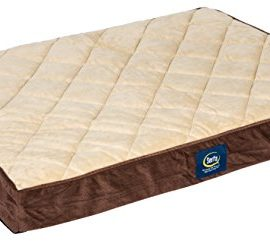 Serta-Orthopedic-Quilted-Pillowtop-Dog-Bed-Large-Brown-0