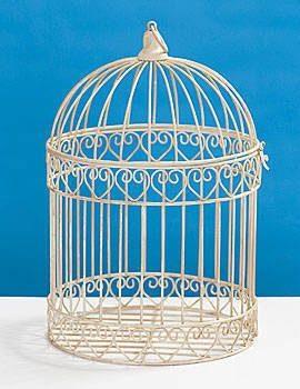 Shindigz-Valentines-Party-Decorative-Ivory-Bird-Cage-Centerpiece-0