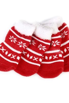 Snowflake-Pet-Dog-Puppy-Cat-Shoes-Slippers-Non-Slip-Socks-with-Paw-Prints-12-x-30inch-0