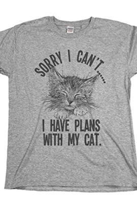 Sorry-I-cantI-Have-Plans-With-My-Cat-Mens-Ladies-Unisex-Fit-Slogan-T-Shirt-0