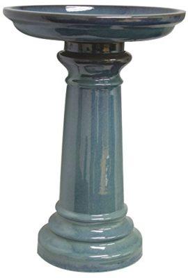 Sun-Pottery-GP0110ES-Ceramic-Bird-Bath-Light-Blue-0