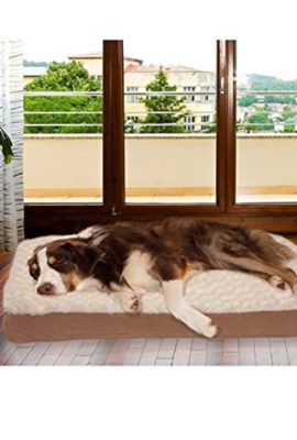 Therapeutic-Dog-Bed-Extra-Large-Deluxe-Comfort-Great-for-Dogs-with-Arthritis-or-Bone-Problems-Waterproof-Bottom-with-Washable-Cover-Jumbo-0