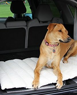 Travel-Dog-Bed-for-Car-or-SUV-Great-for-Large-and-Small-Breed-42x28-Size-Pad-for-Large-Pet-Crate-Indoor-or-Outdoor-Use-Easy-Roll-up-Makes-This-a-Useful-Portable-Dog-Bed-0