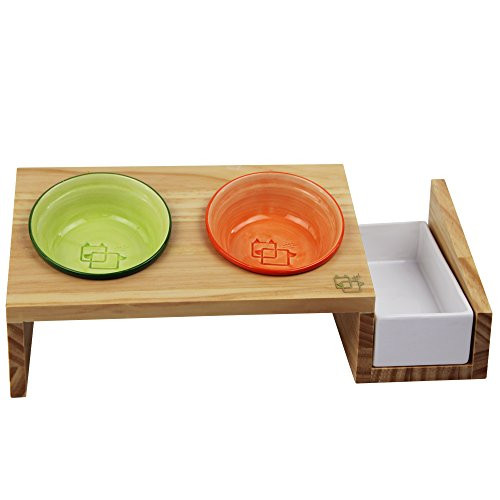 ViviPet Cat Dining Table 15176 Tilted Platform Pet Feeder  : ViviPet Cat Dining Table 15 Tilted Platform Pet Feeder Solid Pine Stand with Ceramic Bowls Elevated Cat feeder Raised Cat Bowl Mykonos Collection 0 1 from amazinganimalposts.com size 500 x 500 jpeg 23kB