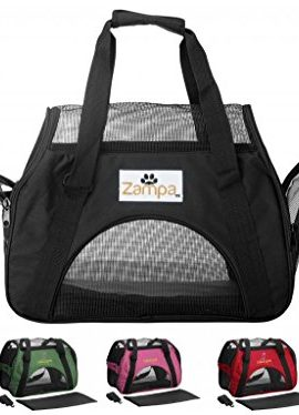 Zampa-Soft-Sided-Pet-Carrier-Mesh-Side-Windows-and-Doors-15-x-75-x-17-Inch-0